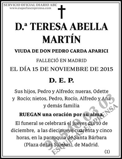 Teresa Abella Martín